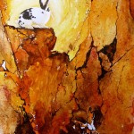 rabbit, semi-abstract, semi-abstract rabbit, bunny, bunny painting, watercolor bunny, watercolour bunny