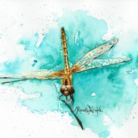 dragonfly, dragonfly painting, watercolor dragonfly, watercolour dragonfly