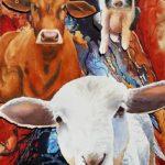pig, cow, lamb, rescued farm animals, farm animals,